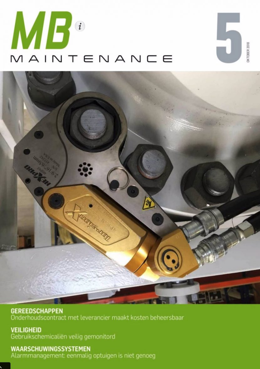 Cover maintenance magazine of AnMa TECH BV with TorsionX and Euroloop Calibration B.V.